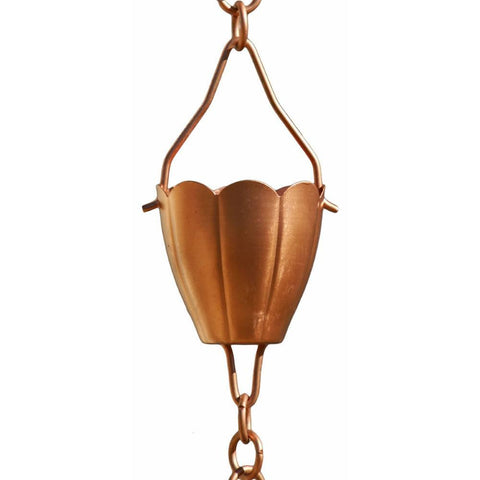 Patina Products - Patina Products - R276 Copper Flower Cup Rain Chain - Full Length - Default Title - Outdoor Living  - Yard Outlet - 1