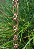 Rainchains - Rainchains - 3133 Link and Loop Copper Rain Chain, Unfinished Pure Copper -  - Outdoor Living  - Yard Outlet - 2