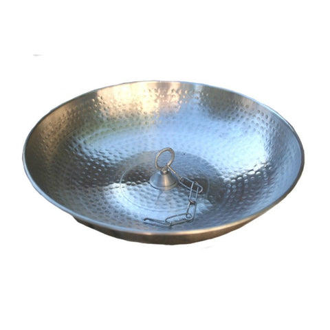 Rainchains - Rainchains - 3145-AL-LOOP Hand Hammered Aluminum Dish with Attachment Loop -  - Outdoor Living  - Yard Outlet