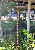 Rainchains - Rainchains - 3146 Star Flower Unfinished Copper Rain Chain, Star Flower Design -  - Outdoor Living  - Yard Outlet - 3