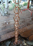Rainchains- 3183 Triple Loops 2.5 Inch Copper Link Rain Chain - Rainchains