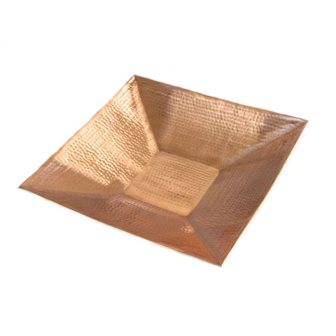 Rainchains - Rainchains - 4298 Hammered Square Copper Dish -  - Outdoor Living  - Yard Outlet