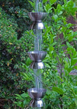 Rainchains - C300 Chalice Cups Stainless Steel Rain Chain - Rainchains