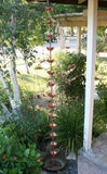 Rainchains - Rainchains - DL-701 Double Lotus Brass and Copper Chain, Lotus Flower Design -  - Outdoor Living  - Yard Outlet - 3