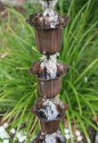 Rainchains - Rainchains - IR-506 Bronze Flower Cup Rain Chain, Iron Cup, Bronze Color -  - Outdoor Living  - Yard Outlet - 2