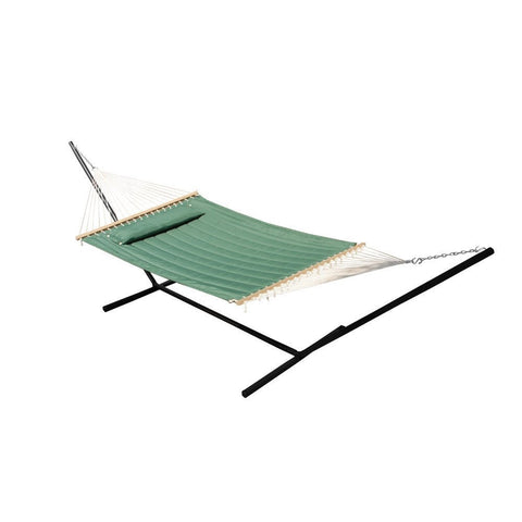 Smart Living Home and Garden - 52325-EGP - Monte Carlo Premium Double Hammock - Elm Green - Smart Living Home and Garden