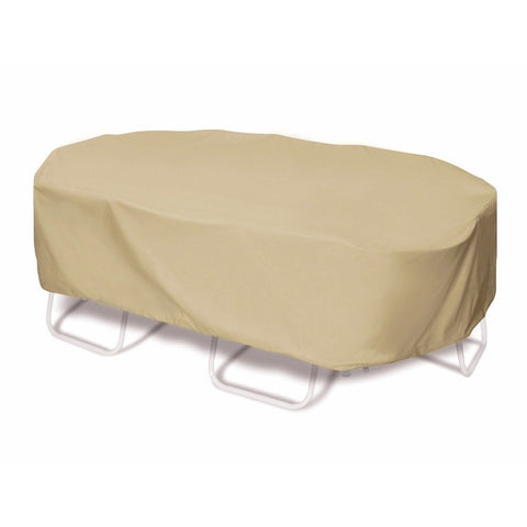 "Two Dogs Designs - 2D-PF110845 - 110"" Oval/Rectangle Table Cover (Khaki) - Two Dogs Designs"