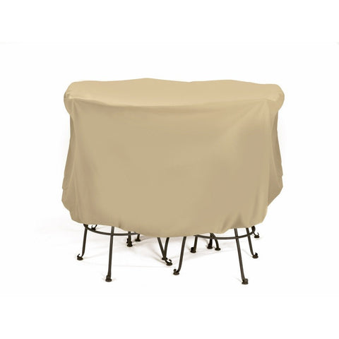"Two Dogs Designs - 2D-PF74005 - Table Cover 74"" Round Bistro (Khaki) - Two Dogs Designs"