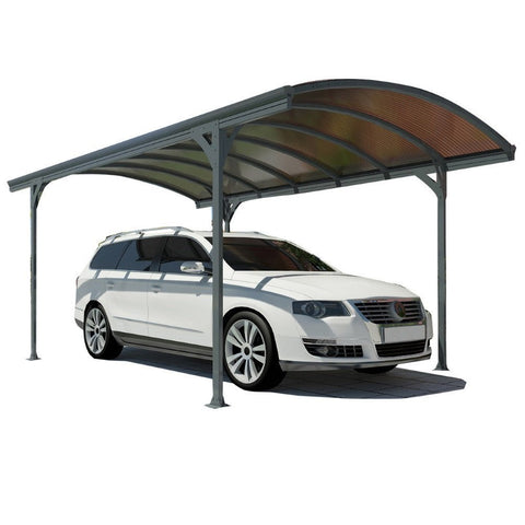 Palram - Vitoria Gray and Bronze Carport - Default Title - Outdoor Living  - Yard Outlet
