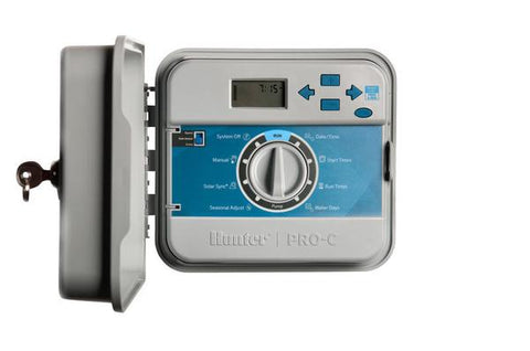 Hunter Industries - PCC-600 - Pro C - Outdoor Controller with Internal Transformer, Fixed 6-Station - Hunter Industries