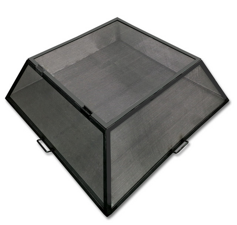 Master Flame - Carbon Steel  Square or Rectangle Fire Pit Screen