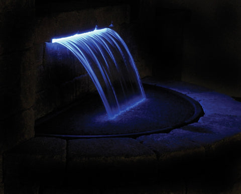 Atlantic Water Gardens - Atlantic Water Gardens - CF24 24 Inch Colorfalls Spillway - Ice Blue - Water Gardening  - Yard Outlet - 2