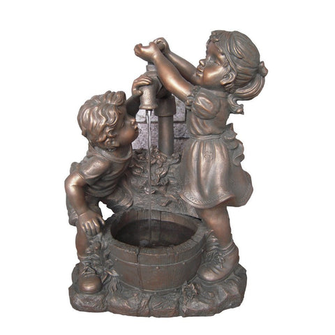 Boy and Girl Water Fountain without Light - Jeco