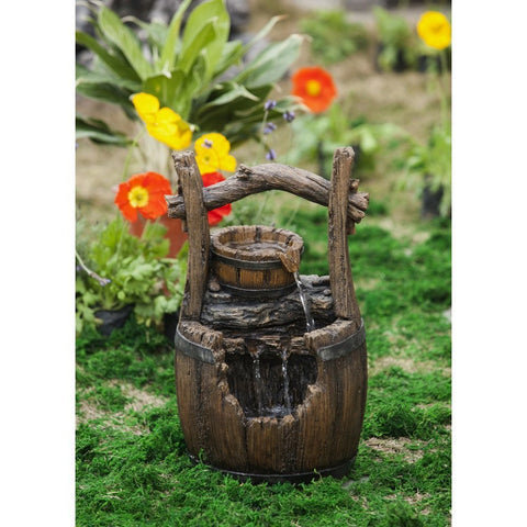 Jeco - Broken Barrel Water Fountain - Default Title - Water Gardening  - Yard Outlet