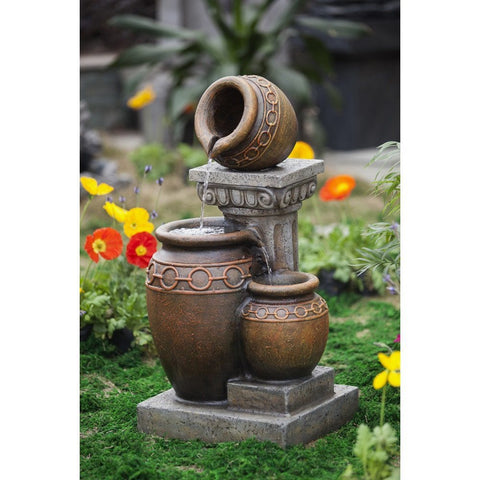 Classic 3-Pot and Column Water Fountain - Jeco