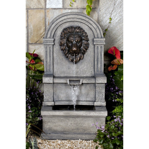 Classic Lion Face Stone Finish Wall Water Fountain - Jeco