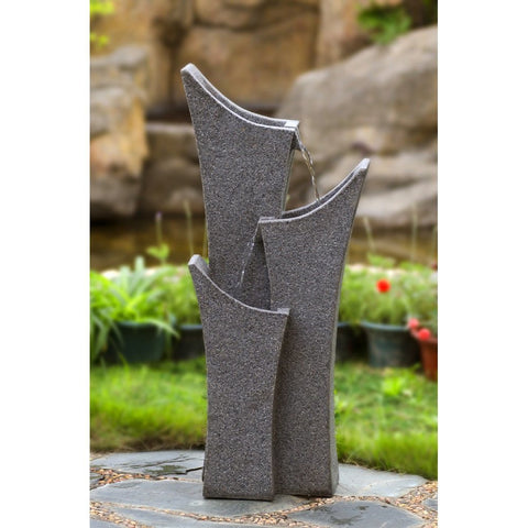 Jeco - Gray Sandstone Indoor or Outdoor Water Fountain - Default Title - Water Gardening  - Yard Outlet