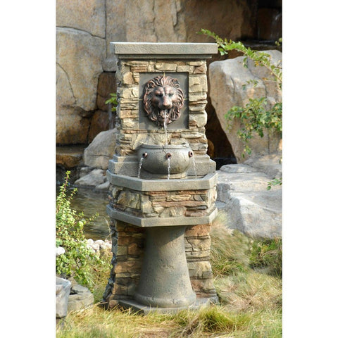Lion Head Outdoor or Indoor Water Fountain - Jeco