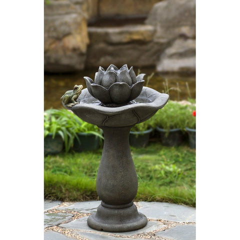 Lotus Flower and Frog Tiers Water Fountain - Jeco