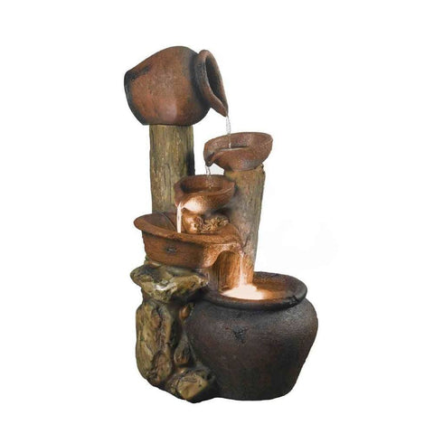 Jeco - Pentole Pot Outdoor or Indoor Fountain with Illumination - Default Title - Water Gardening  - Yard Outlet