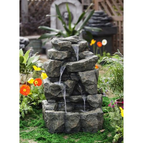Rock Waterfall Water Fountain without Light - Jeco