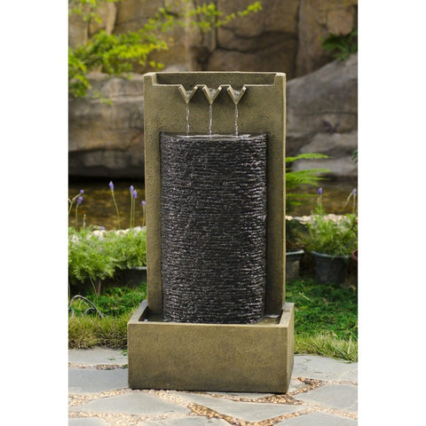 Stone Wall Indoor or Outdoor Water Fountain - Jeco