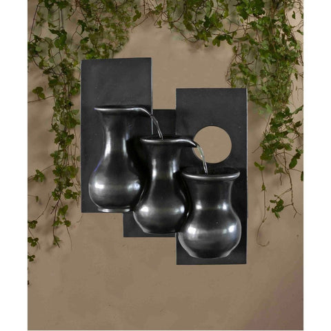 Jeco - Three Jugs Wall Hanging Wall Fountain - Default Title - Water Gardening  - Yard Outlet