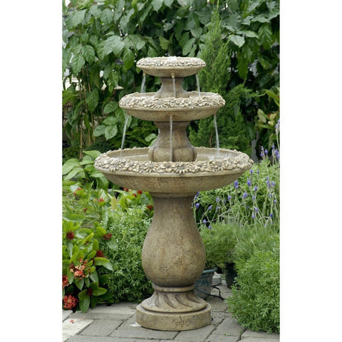 Two Tiers Outdoor Water Fountain - Jeco
