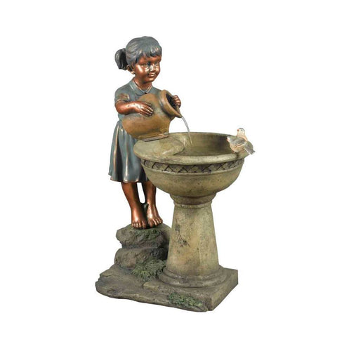 Versando Bird Bath Outdoor Water Fountain - Jeco