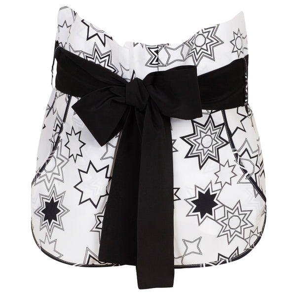 Lottie (White) Star Print Shorts