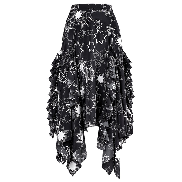 Gracie Star Print Midi Skirt