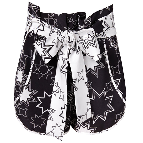 Lottie (Black) Star Print Shorts