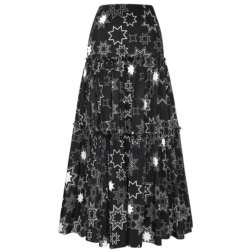 Ellie (Black) Tiered Maxi Skirt