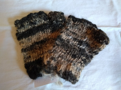 Alpaca Finger-Less Gloves