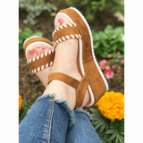 Tyra | Flatform Wedge | Tan