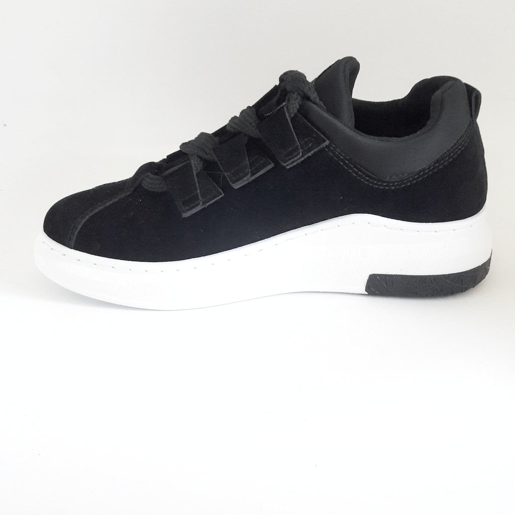 Katy | Lace Up Trainer | Black