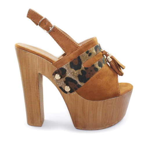 Gisele | High Heel Platform | Tan