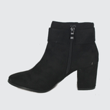 Dakota - High Heeled Ankle Boot -Black
