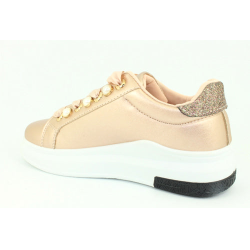 Missy | Metallic Trainer | Rose Gold