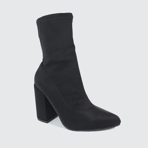 457b2407c8e Stephanie - High Heeled Sock Ankle Boot - Black – Moda Shoes ...