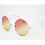 Antigua | Oversized Round Sunglasses | Pink/Lemon