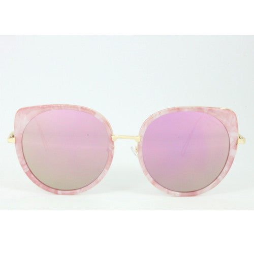 Palm Springs | Oversized Marbled Sunglasses | Rose Gold