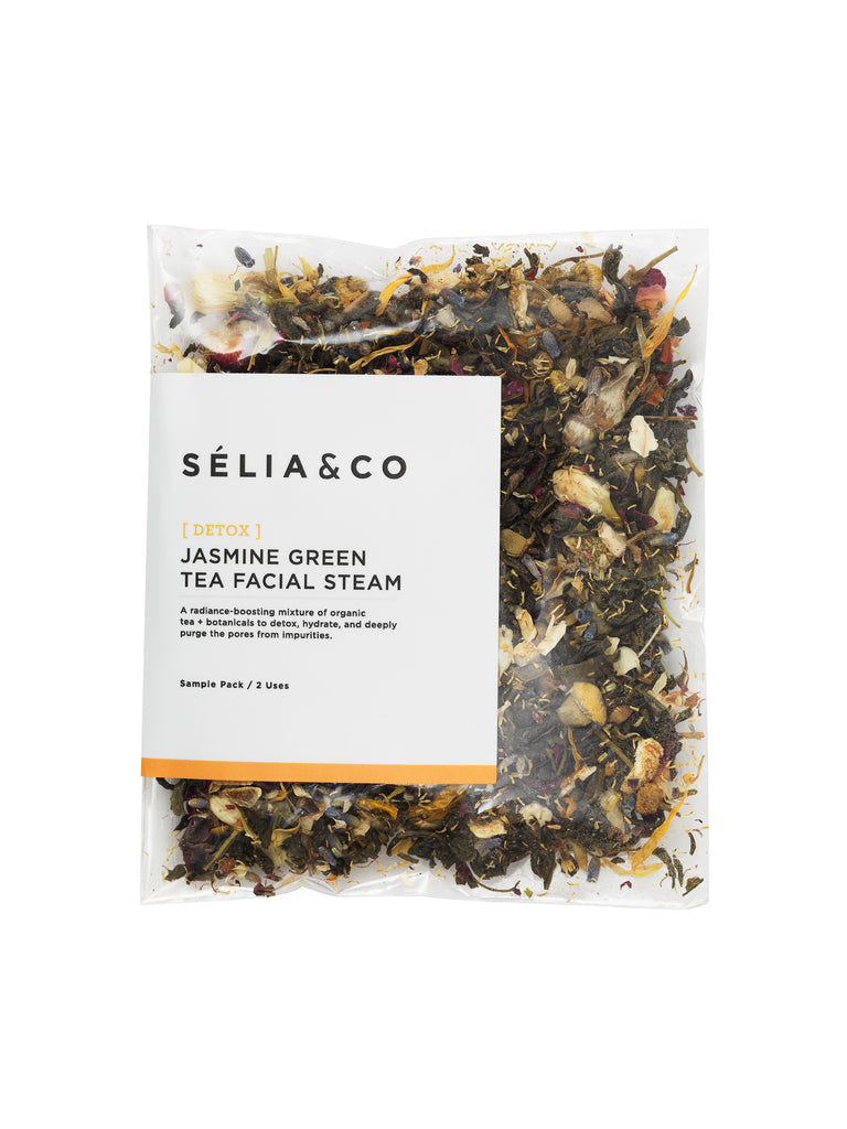 detoxing facial steam with jasmine tea and botanicals