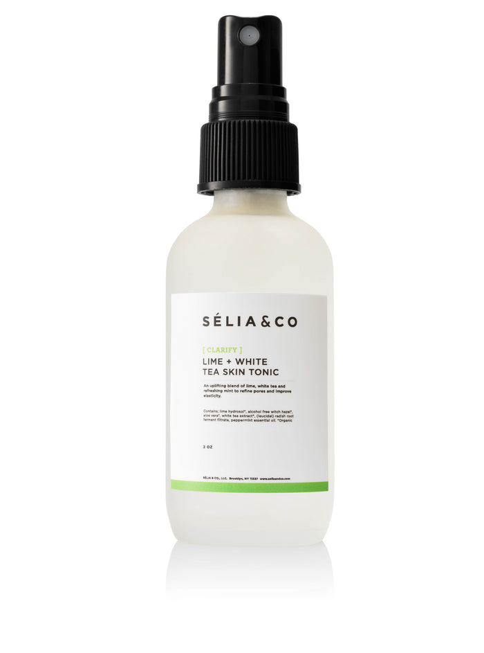[CLARIFY] LIME + WHITE TEA SKIN TONIC - SELIA & CO.