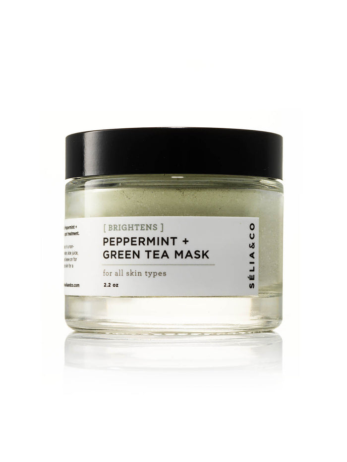 [BRIGHTENS] Peppermint + Green Tea Mask - SELIA & CO.