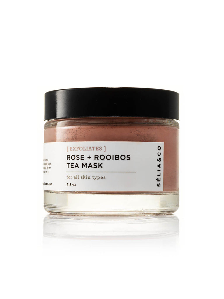 Rose and Rooibos Tea Mask. Organic Face Clay Mask.