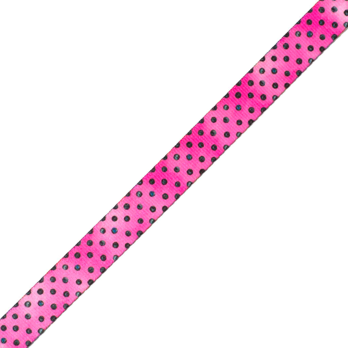 Cheerful Plastic Buckle Dog Collar | Raspberry Polka Dot Design