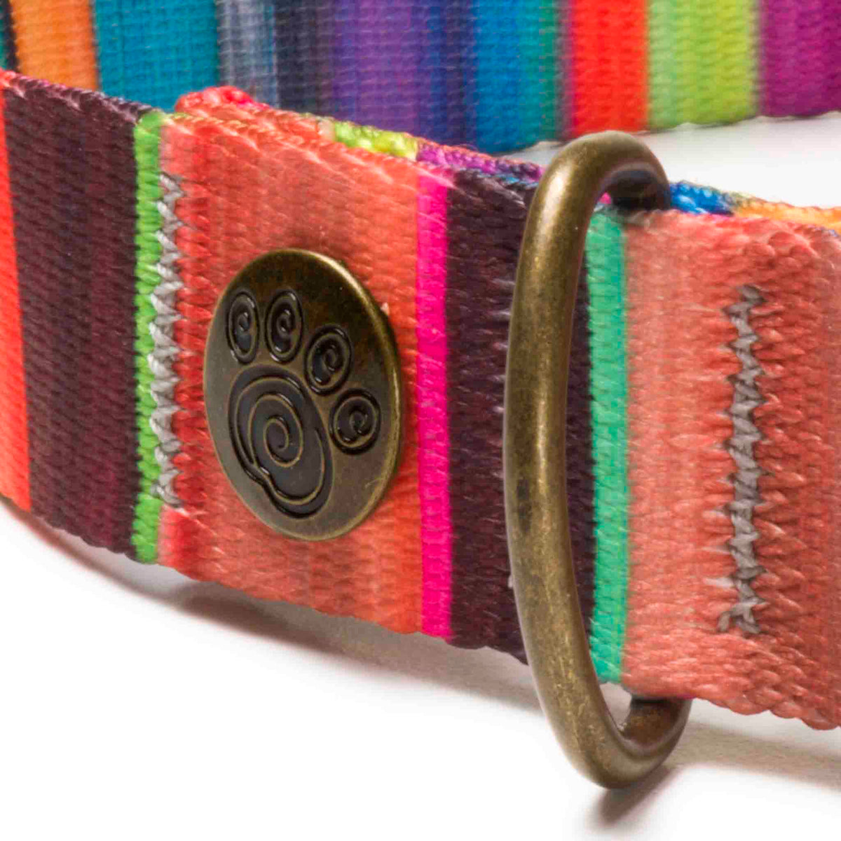 Colorful Magnetic/Slide Metal Buckle Dog Collar | Havana Exotic Stripe Design