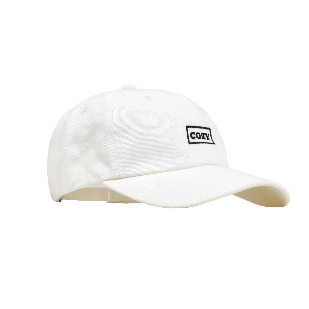 Cozy Box Cap - White