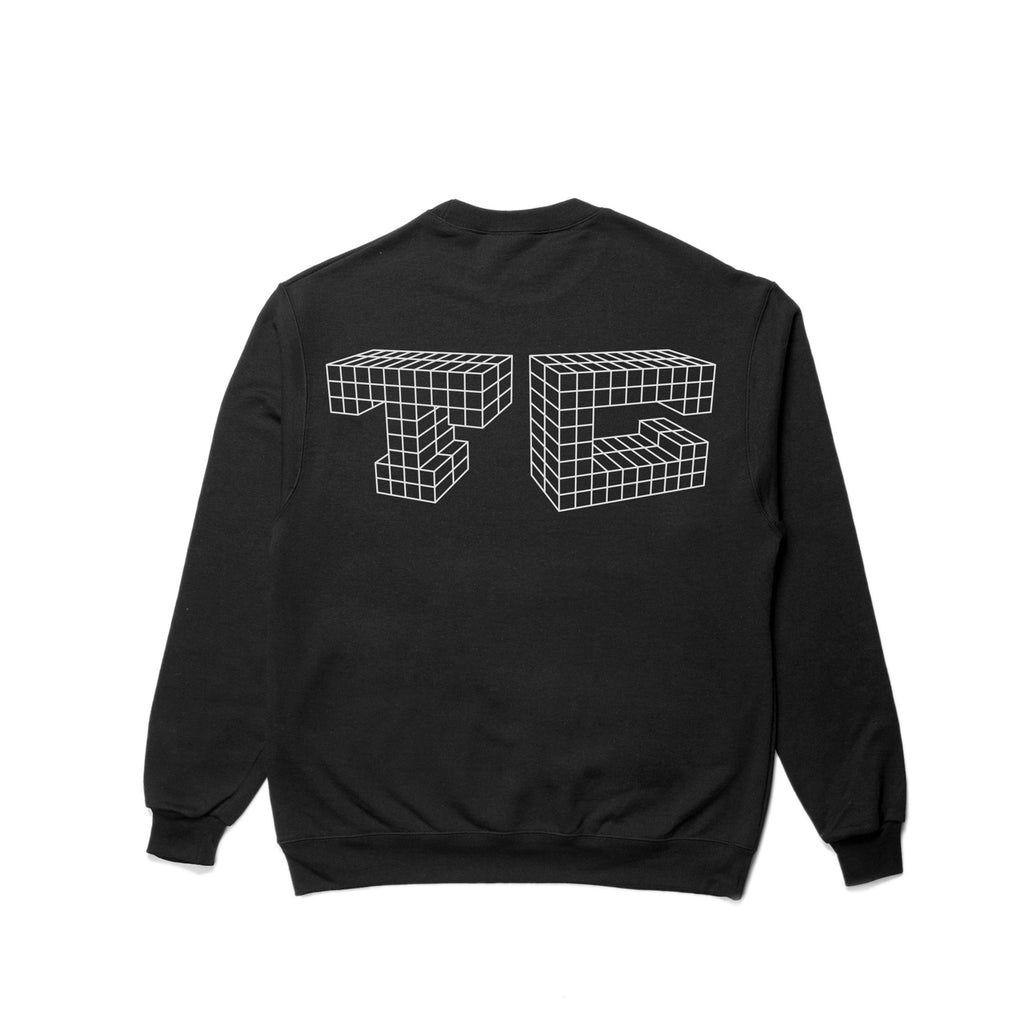 Geometric Crewneck - Black